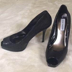 New Steve Madden sparkly black shoes 👠